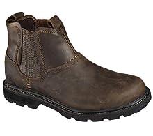 Skechers Men's Blaine Orsen Ankle Boot,Dark Brown,10 M US
