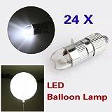 24x White LED Party Lights For Paper Lanterns Balloons Floral Decoration light (WHITE, 1)