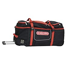 Swiss Cargo Trulite 34 Inch Wheeled Duffel, Black Red, Checked-Extra Large