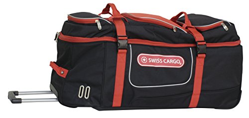 swiss-cargo-trulite-34-inch-wheeled-duffel-black-red-checked-extra-large