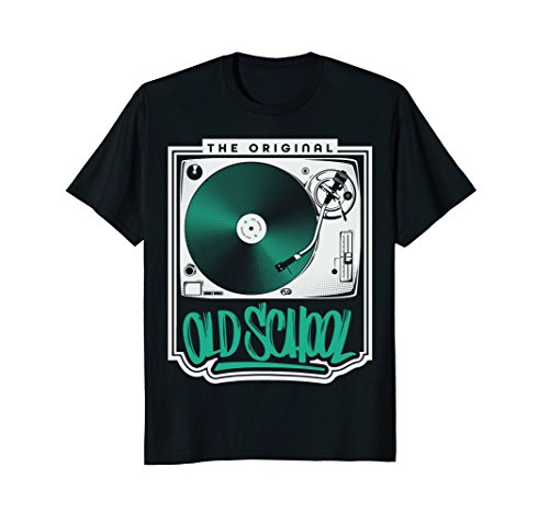 The Original Old School Turntable T-shirt for Vinyl DJs