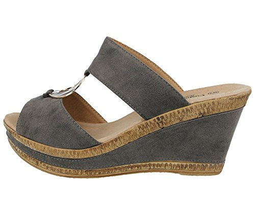 Gris Cushion Mules Femme Gris Cushion Walk Walk Femme Femme Mules Walk Cushion Mules Gris 55Sqzwnrt