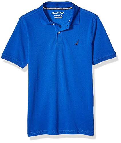 Nautica Boys' Short Sleeve Solid Polo