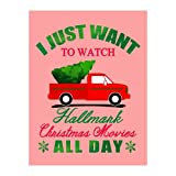 I Just Want to Watch Hallmark Christmas Movies All Day - Christmas Tree Truck Snowflakes Merry Christmas Funny Xmas Santa Gift Velvet Plush Fleece Super Soft Cozy Throw Blanket 58x80 inch one Side -  Tobe Yours