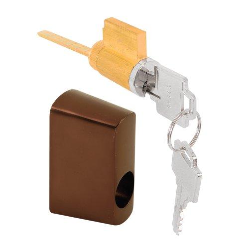 Slide-Co 154034 Door Key Lock W/Housing, Offset, Oil Rubbed, Bronze,Light 81 ()