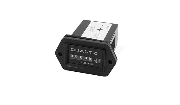 Amazon.com: eDealMax SYS DC12V-36V Industrial cuarzo electrónico Acumula acumulado del temporizador Negro: Automotive