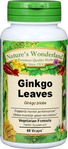 Nature's Wonderland Ginkgo Capsules, 475 mg, 60 Vcaps 475 Mg 60 Capsules