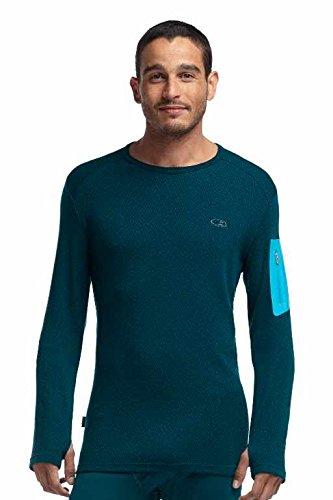 Icebreaker Herren Shirt Unterhemd langarm Apex Long Sleeve Crewe Mountain Icon