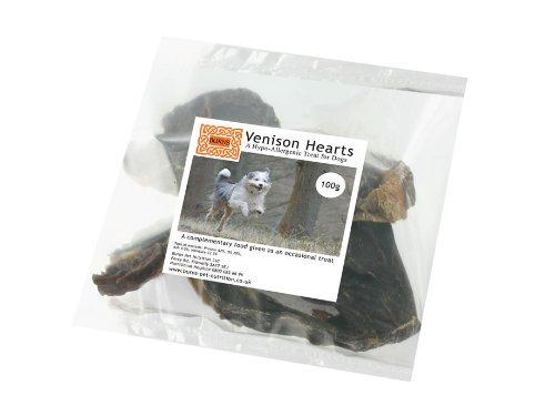 Burns Dog Treats Venison Hearts 100g