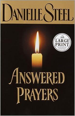 amazon answered prayers random house large print danielle