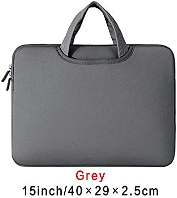Carryyourlife 11 13 14 15 15.6 Pulgadas Funda para Ordenador portátil con Cremallera Doble a Prueba de Golpes para portátil MacBook Air Pro Retina Gris Gris ...