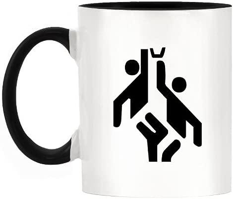 Baloncesto Atletismo símbolo diseño bicolor taza con mango ...