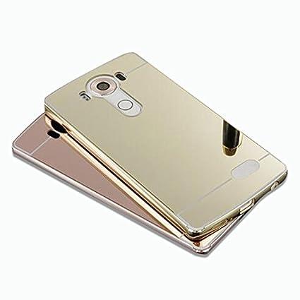 new york 47350 efa36 Maetek For LG G5 Case,Fashion Electroplating Mirror Case,Metal Brumper +  Hard PC Back Separated Protector Shockproof Phone Cover For LG G5-Gold