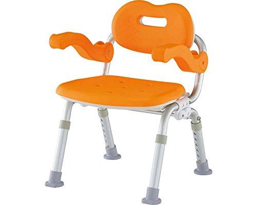 シャワーチェア[ユクリア]コンパクトSPおりたたみ オレンジ B016OFR68S  オレンジ