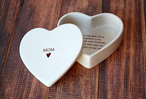 SHIPS FAST - Mother of the Bride Gift - Heart Keepsake Box - Mom - With Gift Box