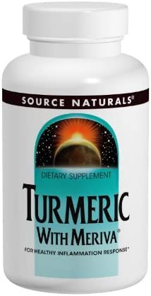 Source Naturals Turmeric with Meriva 500mg for Healthy Inflammatory Response – 60 Capsules