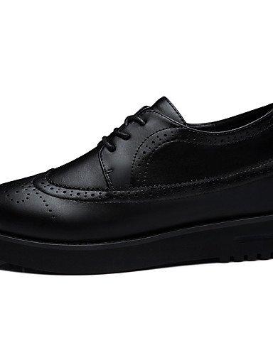 Femme Escarpin Confort Décontracté Chaussures Habillé Plat Uk4 Black Njx Rouge Basique Talons Eu36 amp; us6 Travail Talon Cn36 Bureau Noir 2016 cE0FFOW1