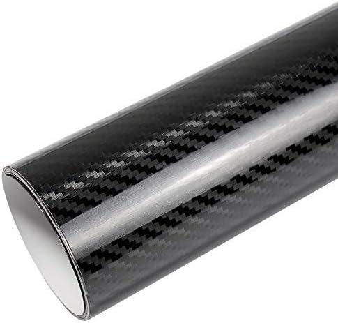 Rapid Teck Premium - Película Auto sin Burbuja con Conductos de Aire para Coche Laminado y 3D Pegar en Mate Brillo y Carbono - 5D Carbono Negro, 4m x 1,52 m: Amazon.es: Hogar