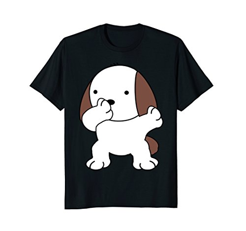Cute Fat Dabbing Dog T-Shirt - Sunglasses Face Men For Fat