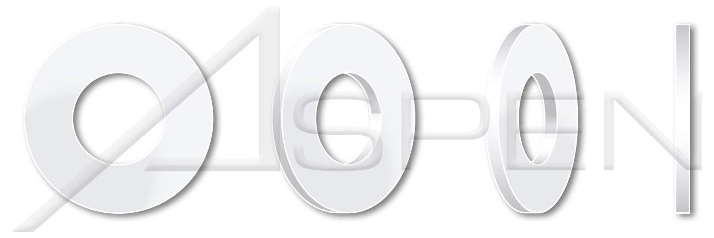 Standard OD=3//8 Type 6//6 THK=0.062 5000 pcs Nylon #8 Flat Washers