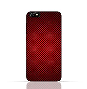 Huawei Honor 4X TPU Silicone Case With Abstract Red With Black Dots Pattern Design.