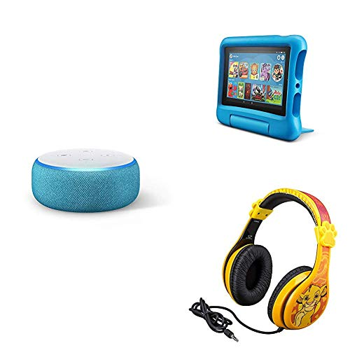 Echo Dot Kids Edition, Blue + Fire 7 Kids Edition Tablet + Headphones Only $129.97 (Was $189.97)