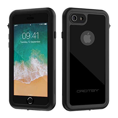 multipurpose ORDTBY iPhone 7/8 Waterproof Case, Underwater Full Sealed Cover IP68 Certified for Waterproof Snowproof Shockproof and Dustproof Case for iPhone 7/8 (black)