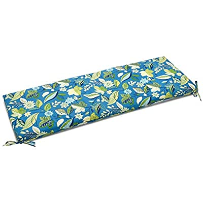 Blazing Needles Indoor/Outdoor Spun Poly 19-Inch by 60-Inch 3-1/2-Inch 3-Seater Bench Cushion