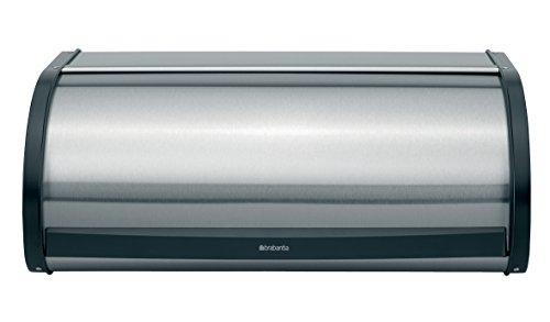 Brabantia Roll Top Bread Box - Matte Steel Fingerprint (Top Stainless Steel Bin)