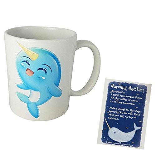 Cute and Kawaii Narwhal Mug with Recipe - Card Order Nectar