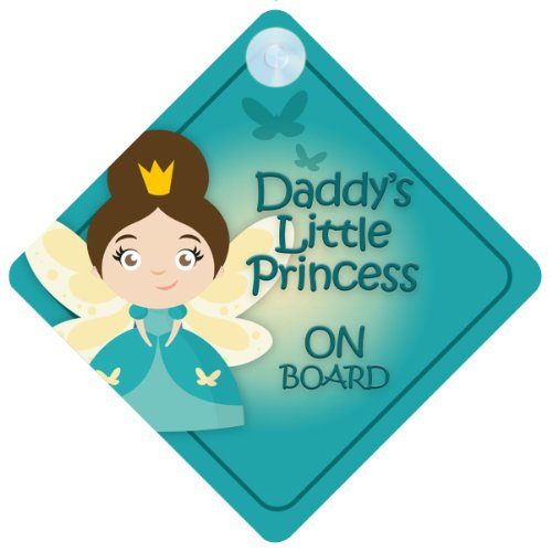 DLP015 Daddy's Little Princess On Board Car Sign New Baby / Child Gift / Present / Baby Shower Surprise