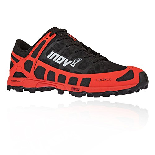 Running Gear Store - Inov-8 Mens X-Talon 230 - Lightweight OCR Trail Running Shoes - for Spartan, Obstacle Races and Mud Run - Black/Red 12.5 M US