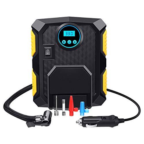 Khantho Inflator Tire Car Air Compressor Pressure Pump Electric Tool Portable Auto Digital DC 12V Volt 150 PSI