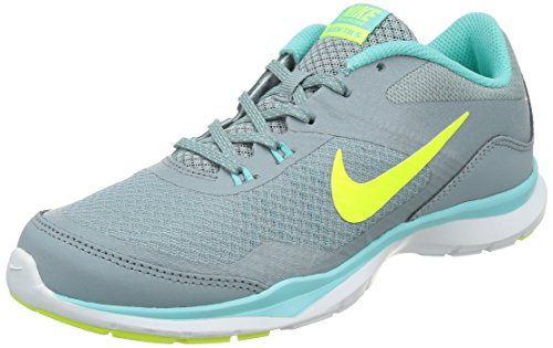 Nike Womens Flex Trainer 5 Running Shoe, Dove Grey/Light Aqua/Teal Tint/Volt - 7.5 B(M) US