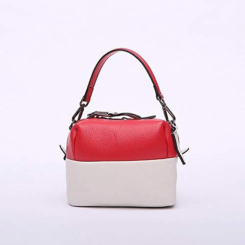 Shoulder Layer Single Handbag Cowhide Bag Leather E Baotou Fashion Woman Hongge qXTS4n