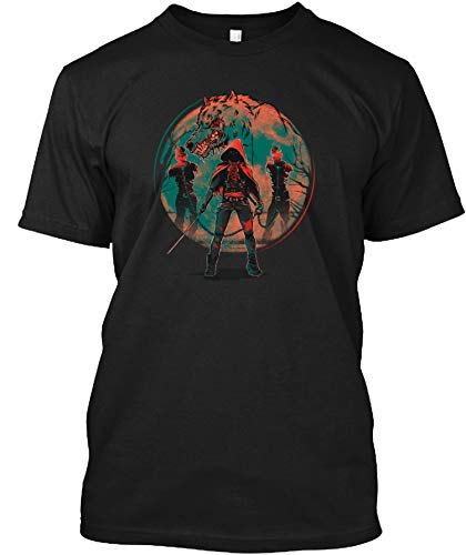 Red Riding Hood - The Walking Dead Tshirt - Men's Woman Funny Novelty T-Shirt-Sweatshirt-Hoodie Black