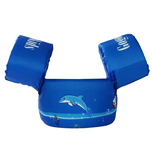 (Gogokids Kids Swim Float Vest Swimming Trainer Jacket Toddler Boys Girls Learn to Swim Blue)