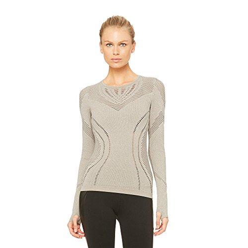 Alo Yoga Women's Lark Long Sleeve (Gravel Heather,S) by Alo Yoga