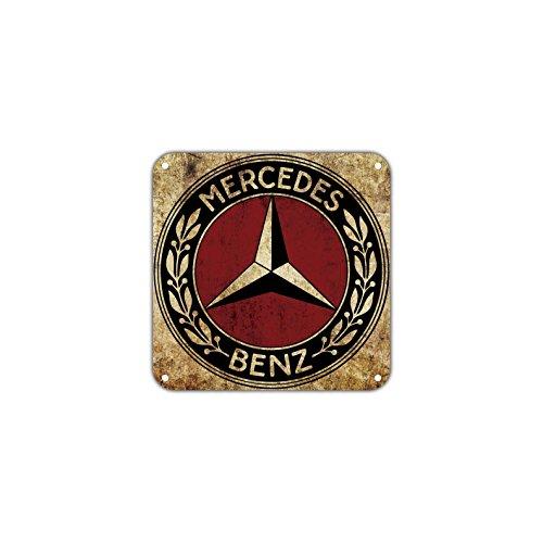 Mercedes Benz Logo Vintage Retro Metal Sign Decor Art Shop Man Cave Bar Aluminum 12