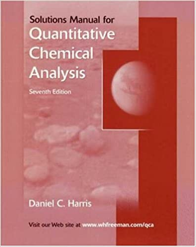 Quantitative chemical analysis student solutions manual daniel c quantitative chemical analysis student solutions manual daniel c harris 9780716772606 amazon books fandeluxe Image collections