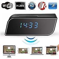 MOKACOCO Popular HD 1080P Wireless WiFi IP Spy Hidden Camera Motion Security Alarm Clock IR CAM