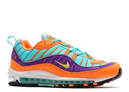 Nike Para Hombre Air Max 98 Qs, Cono / Tour Amarillo-hyper Cono Para Uva / Tour Yellow-hyper Grape