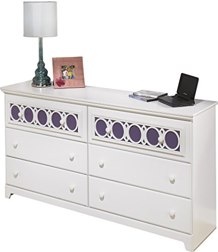 Ashley Furniture Signature Design - Zayley Dresser - 6 Drawers - Engineered Wood - White