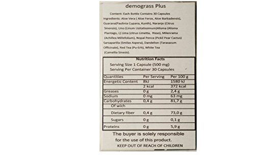 Demograss Plus, Mexican Version 30 capsules Bottle