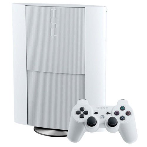 Playstation 3 500GB Super Slim Crystal White Console (Certified Refurbished)