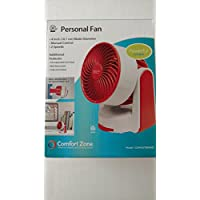 Comfort Zone 4 Inch Personal Fan - Red