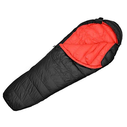 Mountaintop Schlafsack Daunenschlafsäcke Mumienschlafsack für Camping, Wandern, Outdooraktivitäten, 3/4 Jahreszeiten