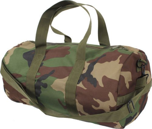 Canvas Sports Gym Duffle Carry Shoulder Bag & Strap - 19