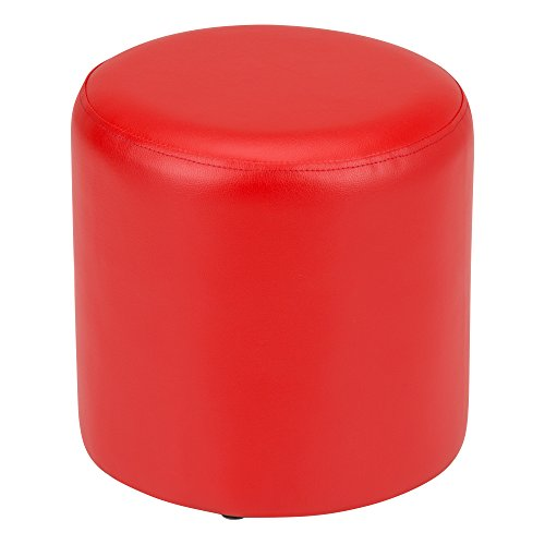 Fat Catalog ALT-SF-325-RD Kids Round Soft Seating Stool, Red