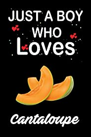 A Boy Who Loves Cantaloupe: Funny Blank Lined Notebook/ Journal for Cantaloupe Lovers